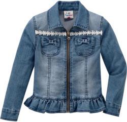 Mädchen Jeansjacke mit Spitzendetails