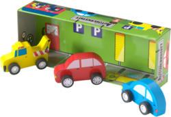 Spielset Autowerkstatt mit drei Autos