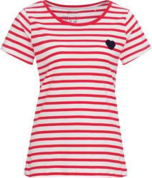 Damen T-Shirt mit kleiner Herz-Applikation
