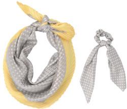 Damen Haarband und Bandana in Plissee-Optik