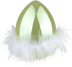 Großes Deko-Ei mit Federn