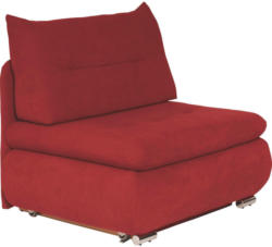 Schlafsessel in Textil Rot