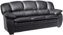 Dreisitzer-Sofa in Textil Schwarz