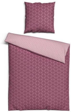 Baumwoll Bettwäsche Strahlen pink rosa 155 x 220 cm