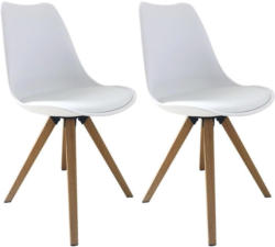 Stuhl-Set Kaja 2-er Set Weiß