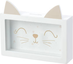 Spardose mit Katzengesicht