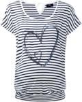 Ernsting's family Damen Umstands-T-Shirt mit Pailletten-Herz