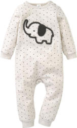 Newborn Schlafanzug mit Elefant-Applikation