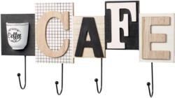4er Wandhaken-Leiste mit Cafe-Schriftzug
