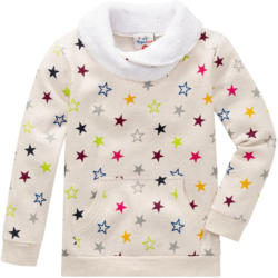 Mädchen Sweatshirt mit buntem Sternen-Print