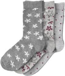 3 Paar Damen Socken in verschiedenen Dessins