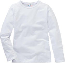 Mädchen Langarmshirt in Weiß