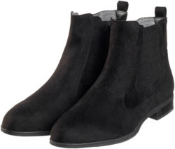 Damen Chelsea-Boots in Veloursleder-Optik