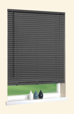 PVC Jalousie, anthrazit, ca. 90 x 210 cm