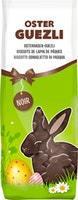 Biscuits de lapin de Pâques avec chocolat