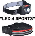 Hartlauer Axxtra LED Sport Set Gürteltasche und Stirnlampe