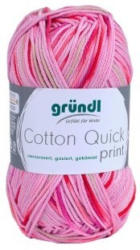 GRÜNDL Strickgarn Cotton Quick print rosa/fuchsia