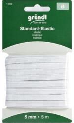 GRÜNDL Gummiband Standard Elastik 5 mm x 5 m weiß