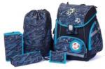 Pagro SPIRIT Schultaschenset Prolight Premium - Fussball 6 Teile schwarz/blau