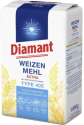 Diamant Weizenmehl Type 405,  jede 1-kg-Packung