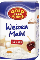 Goldpuder Weizenmehl Type 405,  jede 2,5-kg-Packung