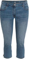 3/4 Damen Slim-Jeans mit Glitzersteinchen (Nur online)