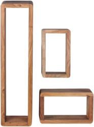 Wandregalset 80/20/15 cm