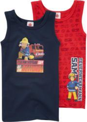 2 Feuerwehrmann Sam Unterhemden im Set