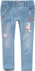 Mädchen Skinny-Jeans mit Wendepailletten