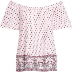 Damen T-Shirt mit Carmen-Ausschnitt