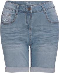Damen Boyfriend-Jeansshorts mit Faltenwaschun