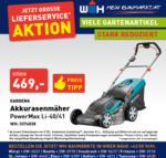 Würth-Hochenburger - Baustoffniederlassung Gardena Akkurasenmäher - bis 31.10.2020