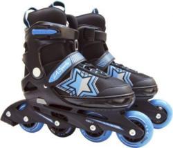 Inline Skates mit Stern in blau/schwarz - verstellbare Größe: 33-37