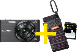 DSC-W830 BDI schwarz Set inkl. 8GB SD Karte und Fototasche LCS-CSZ, Cyber-shot, Kompaktkamera