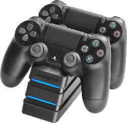 Ladestation Twin:Charger schwarz für PlayStation 4