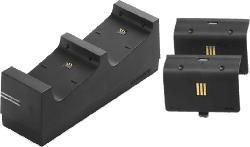 Ladestation Twin:Charge schwarz inkl 2x 700 mAh Batterie Packs für Xbox One
