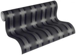 Vliestapete schwarz-anthrazit mit Streifen, NEUE BUDE 2.0