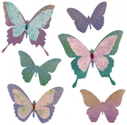 3D-Wandsticker Schmetterlinge