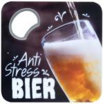 Möbelix Flaschenöffner/Untersetzer Anti Stress Bier