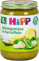 Hipp Babybrei Spinatgemüse in Kartoffeln