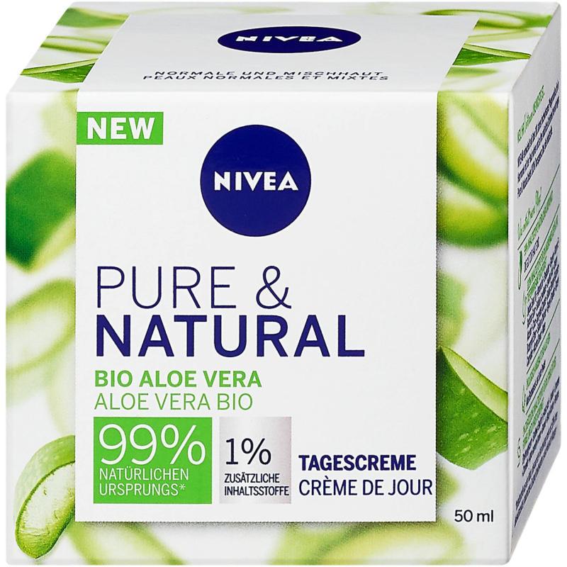 Nivea Pure & Natural Tagescreme Bio Aloe Vera