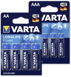 Varta Longlife Power Batterien AA Mignon od. AAA Micro