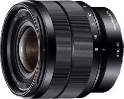 SONY SEL1018 10 mm-18 mm f/4.0 OSS, ED, ASPH, Circulare Blende (Objektiv für Sony E-Mount, Schwarz)