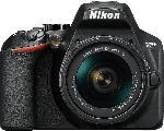MediaMarkt NIKON D3500 Kit AF-P DX  Spiegelreflexkamera, 24.2 Millionen Pixel, Full HD, 18-55 mm Objektiv (VR, DX, AF-P), Schwarz