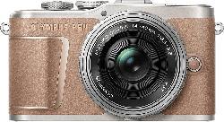 Systemkamera PEN E-PL10 braun mit Objektiv M.Zuiko digital 14-42mm EZ (V205101NE000)