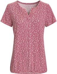 Damen T-Shirt mit Blättern allover