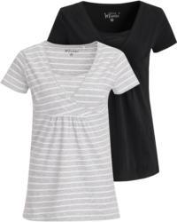 2 Damen Umstands-T-Shirts mit Stillfunktion (Nur online)
