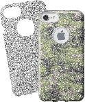 Saturn Backcover Bling für Apple iPhone SE(2020), iPhone 7/8, Gummischutzhülle mit wechselbarem Glittereffekt