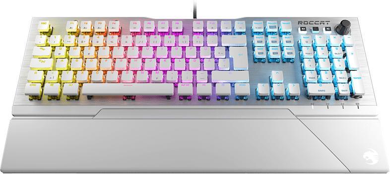 Vulcan 122 Aimo, weiß, LEDs RGB, Titan Tactile, USB, DE (ROC-12-940-BN)