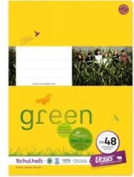URSUS GREEN Schulheft A4 FX48 40 Blatt hochkariert